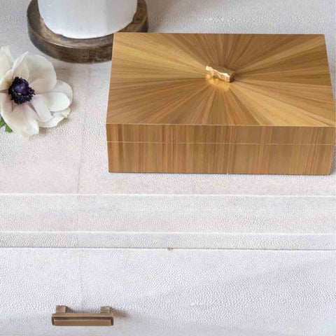Gold marquetry box handmade in the uk