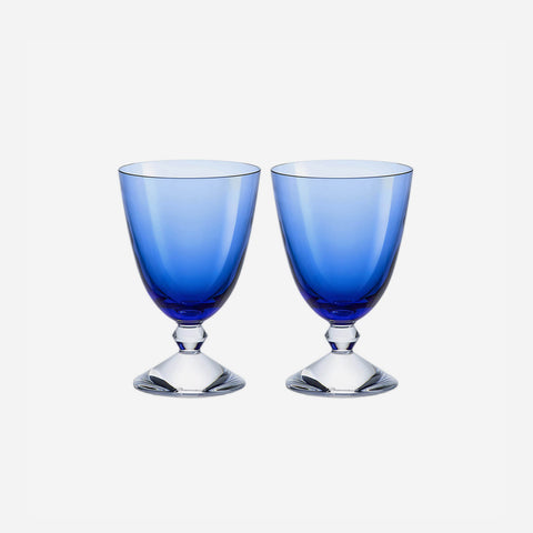 vega blue glass baccarat bonadea