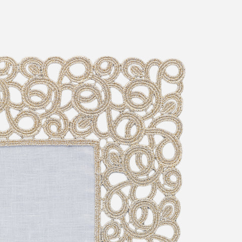 Florence Gold Lace Trim Placemat