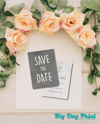 100 A6 Double Sided Personalised Save the Date cards - Big Day Print