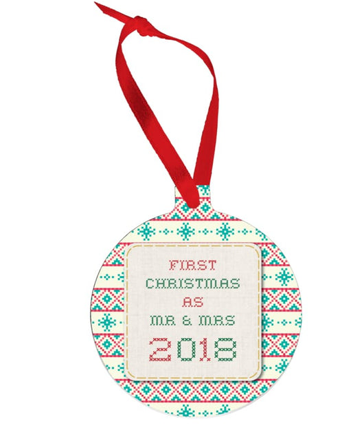 Cream Red and Green Christmas Jumper Bauble - Gifts & Lifestyle