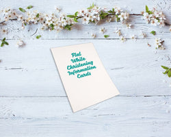 Flat Christening Information Cards