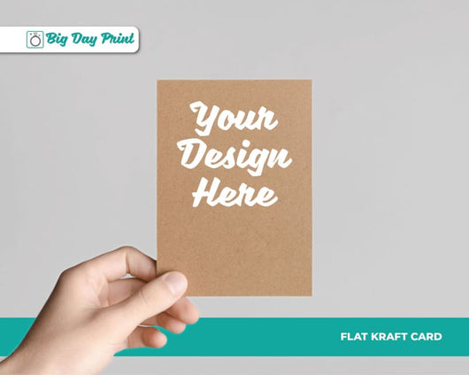 Flat Kraft Birthday RSVP Cards - DL / No Lamination