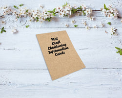 Flat Kraft Christening Information Cards