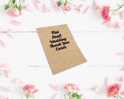 Flat Kraft Wedding Thank You Cards