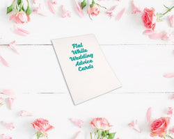 Flat Metallic Foiled Wedding Advice Cards