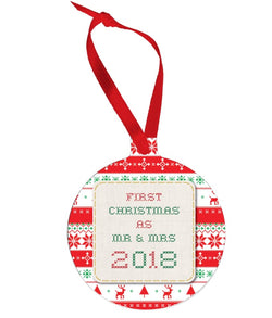 Red and Cream Christmas Jumper Bauble - Gifts & Lifestyle