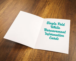 Single Fold Bereavement Information Cards