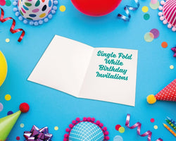 Single Fold Birthday Invitations