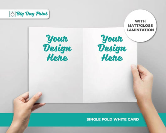 Single Fold Birthday RSVP Cards - DL / Matt Lamination