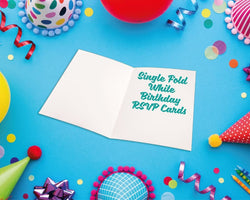 Single Fold Birthday RSVP Cards