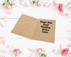 Single Fold Kraft Wedding Advice Cards
