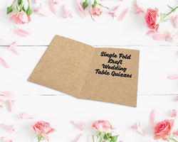 Single Fold Kraft Wedding Table Quizzes