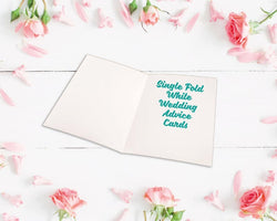 Single Fold Metallic Foiled Wedding Advice Cards