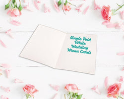 Single Fold Metallic Foiled Wedding Menu Cards