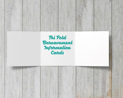 Tri-Fold Bereavement Information Cards