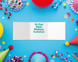 Tri-Fold Birthday Invitations