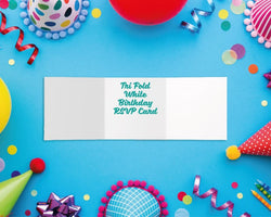 Tri-Fold Birthday RSVP Cards