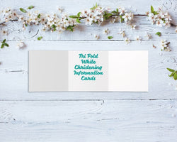 Tri-Fold Christening Information Cards