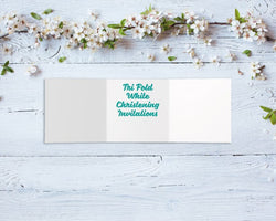 Tri-Fold Christening Invitations