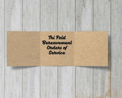 Tri Fold Kraft Bereavement Orders of Service