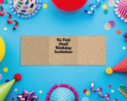 Tri Fold Kraft Birthday Invitations