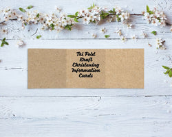 Tri Fold Kraft Christening Information Cards