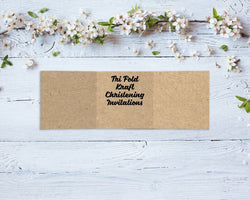 Tri Fold Kraft Christening Invitations