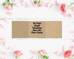 Tri Fold Kraft Wedding Save the Date Cards