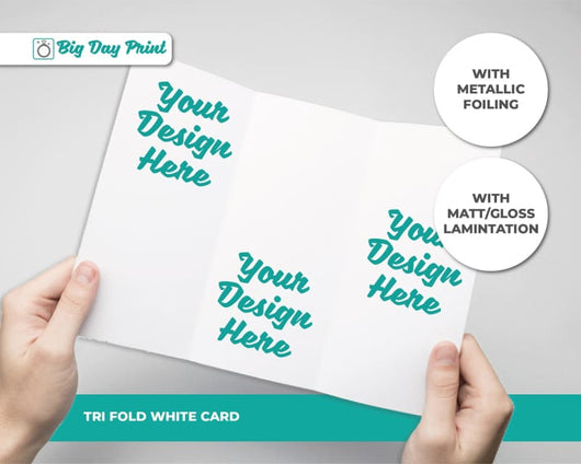 Tri Fold Metallic Foiled Wedding Mad Libs - DL / With Lamination / Gold
