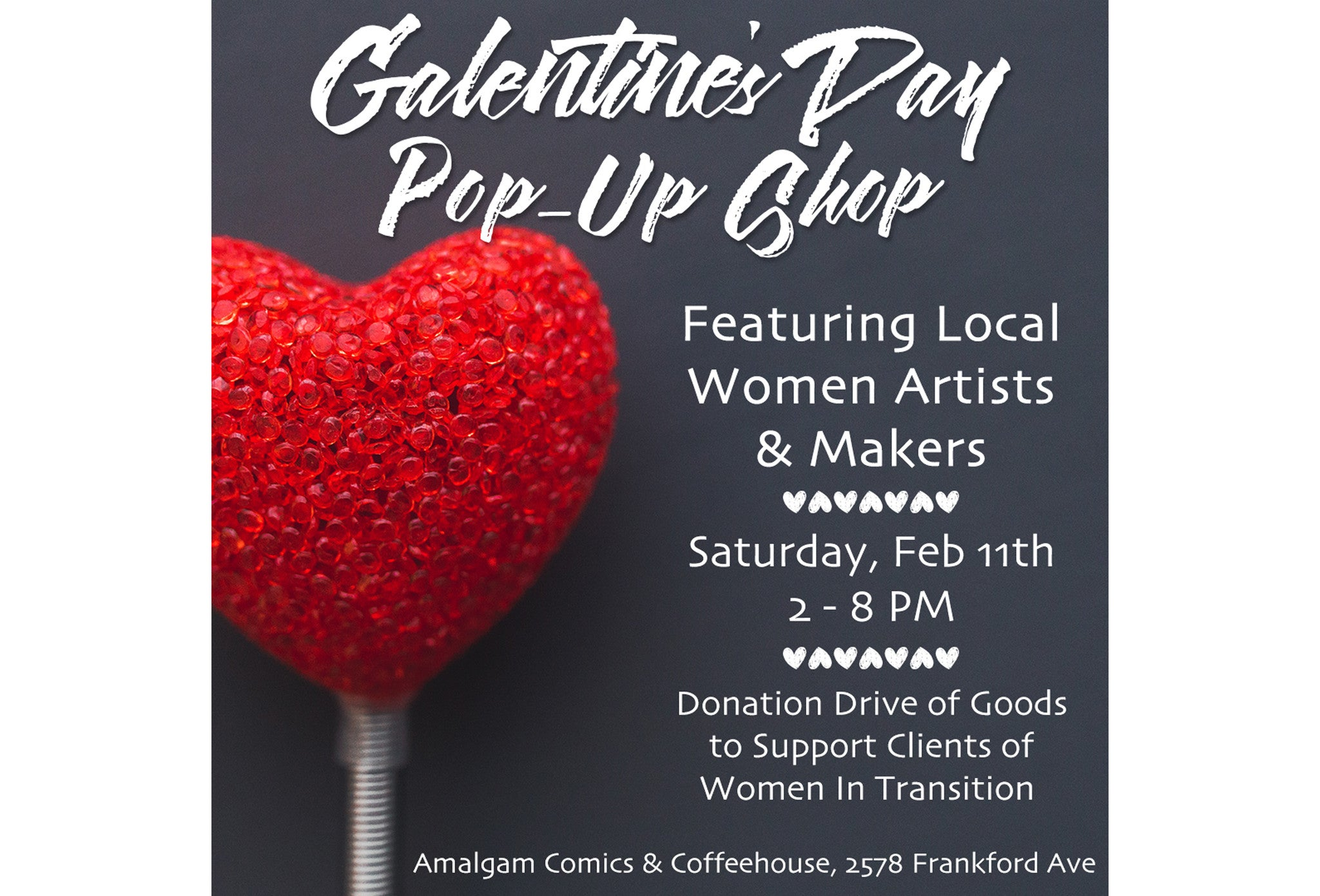 Our Mighty Galentine's Day Pop-Up Shop at Amalgam Comics!
