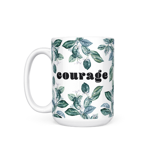 Courage Floral Mug Lutheran Settlement House Fundraiser