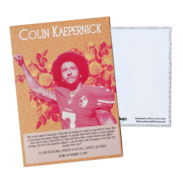 Colin Kaepernick Postcard - Revolutionary Trailblazers