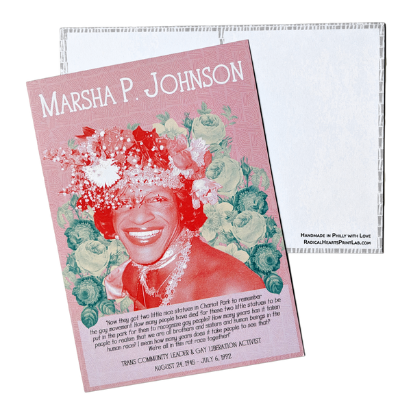 Marsha P. Johnson Postcard - Revolutionary Trailblazers