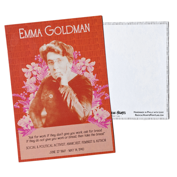 Emma Goldman Postcard - Revolutionary Trailblazers