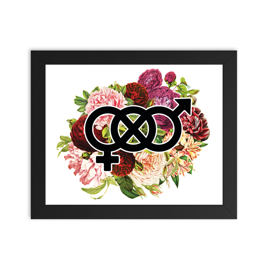 Gender Fluid Infinity Floral - Art Print