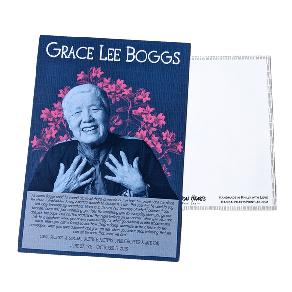 Grace Lee Boggs Postcard - Revolutionary Trailblazers