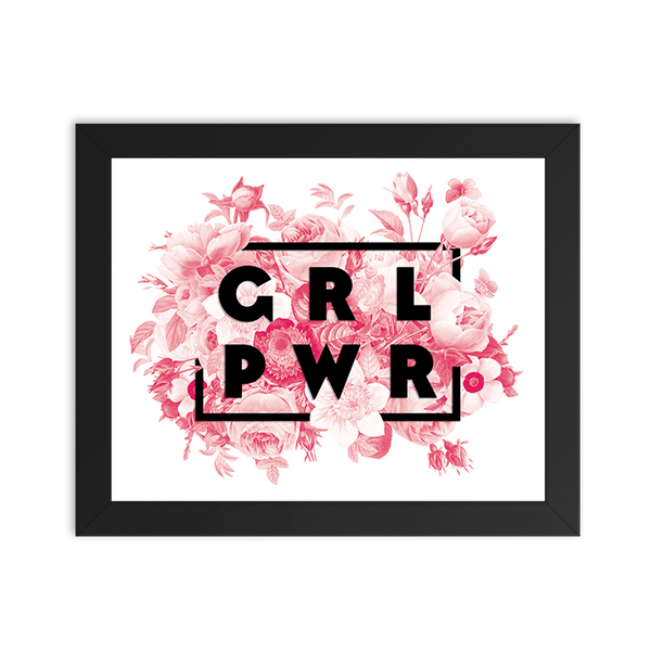 Girl Power Floral - Art Print