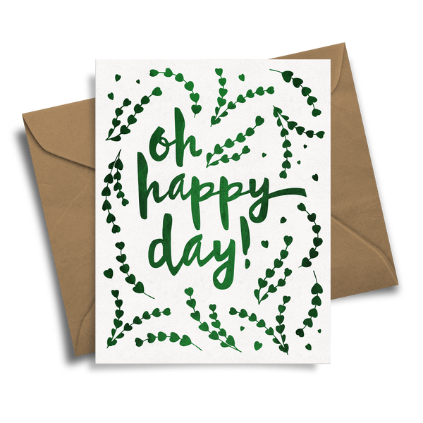 Oh Happy Day! - Handmade Foil Greeting Card
