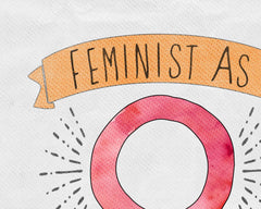 Feminist as F*ck Wall Art - Feminist Typography Digital Print - Bold Home Decor