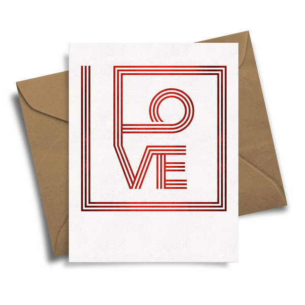 Love Squared - Handmade Foil Greeting Card