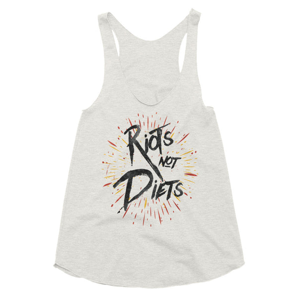 Riots Not Diets - Racerback Tank Top