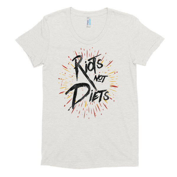 Riots Not Diets - Fitted Soft T-Shirt