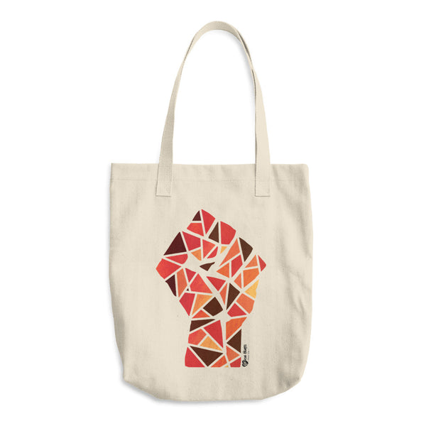 Raised Fist in Reds - Cotton Tote Bag