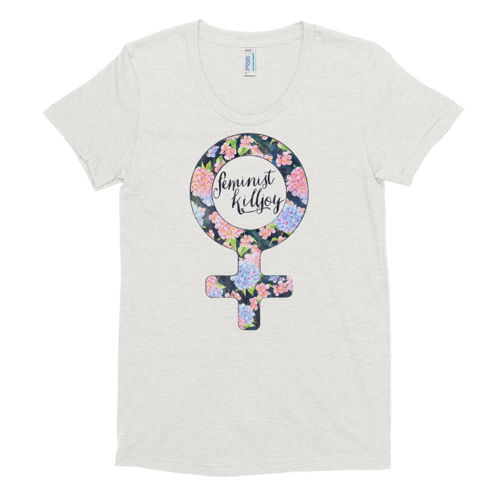 Floral Feminist Killjoy - Fitted Soft T-Shirt