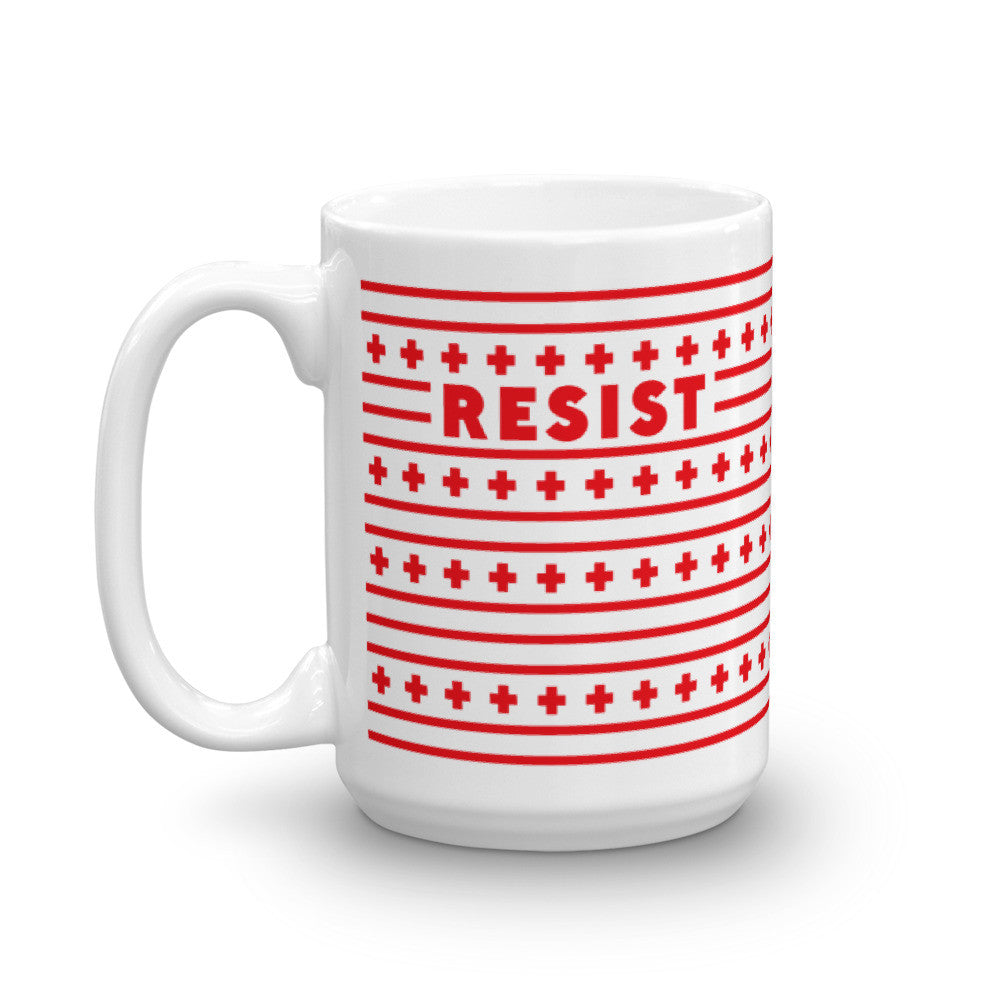 Resist + Persist Lines in Red - 15oz Mug