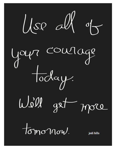 Use All Of Your Courage Today (2052)