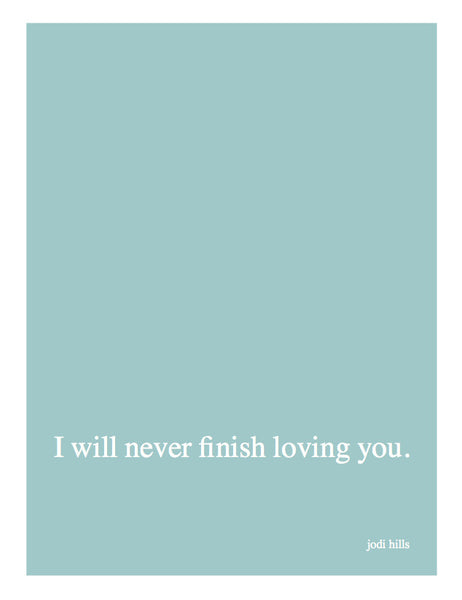 I Will Never Finish Loving You (2057)