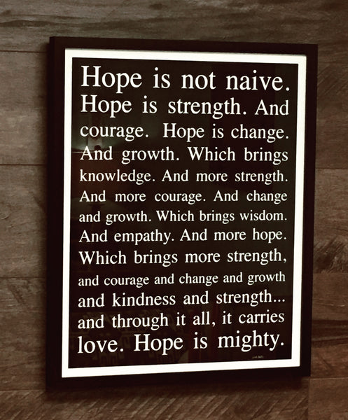 Hope Is Mighty Matted & Framed (2140)