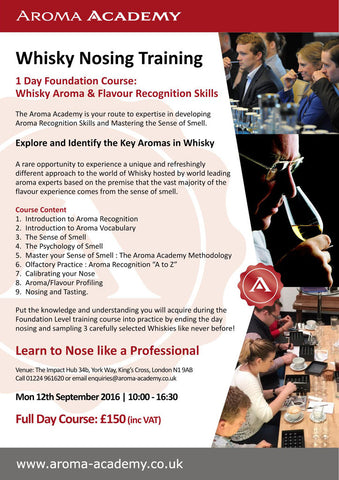 1 Day Foundation Course: Whisky Aroma & Flavour Recognition Skill